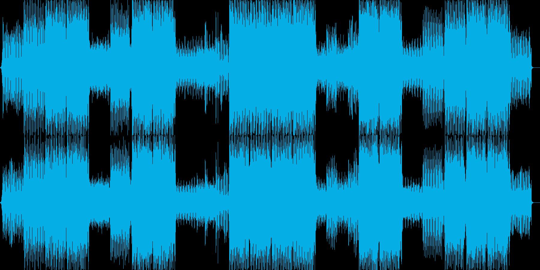 サイバーでかっこいいトランス系テクノの再生済みの波形