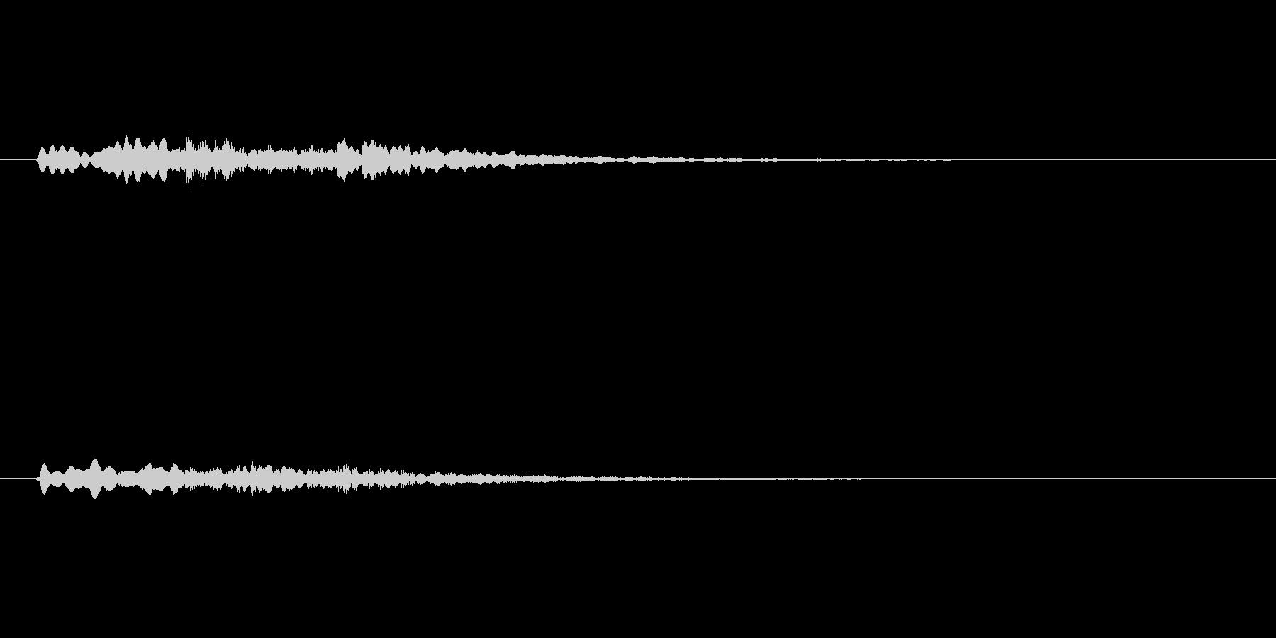 かわいいシンセのサウンドロゴ2の未再生の波形