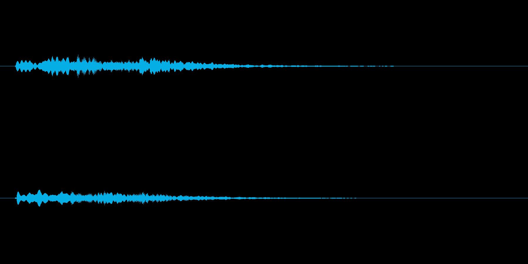 かわいいシンセのサウンドロゴ2の再生済みの波形