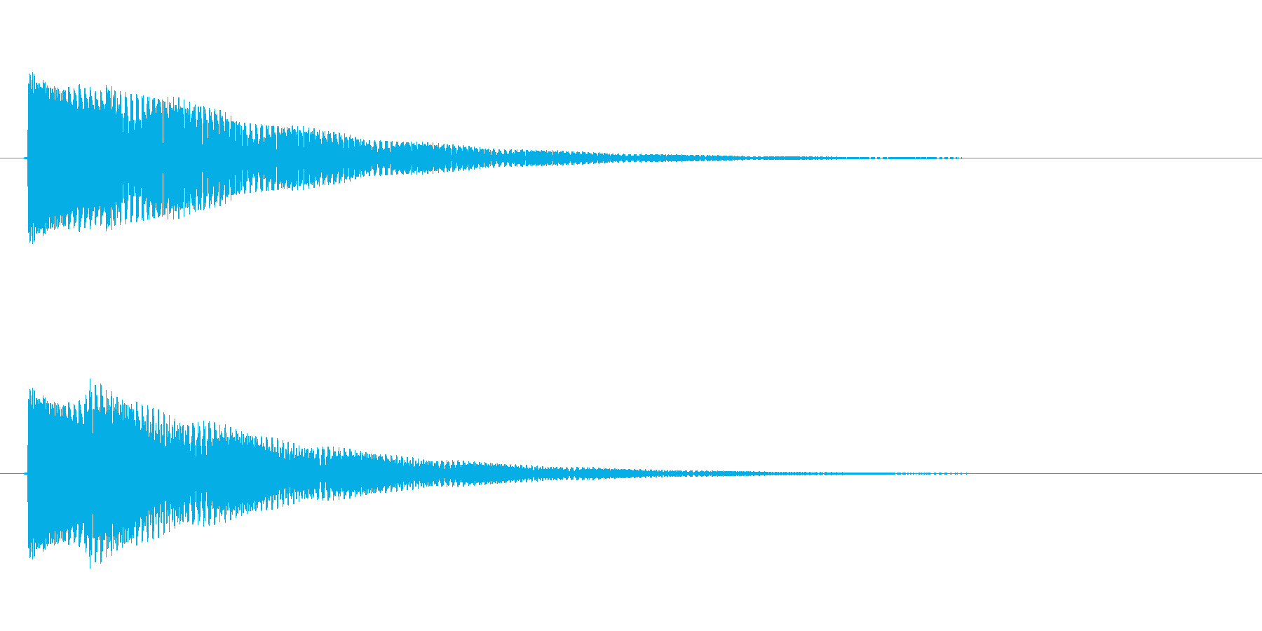 効果音/ジャンプの再生済みの波形