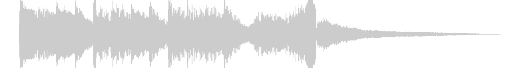 アコギとピアノで奏でるジングル#1の未再生の波形