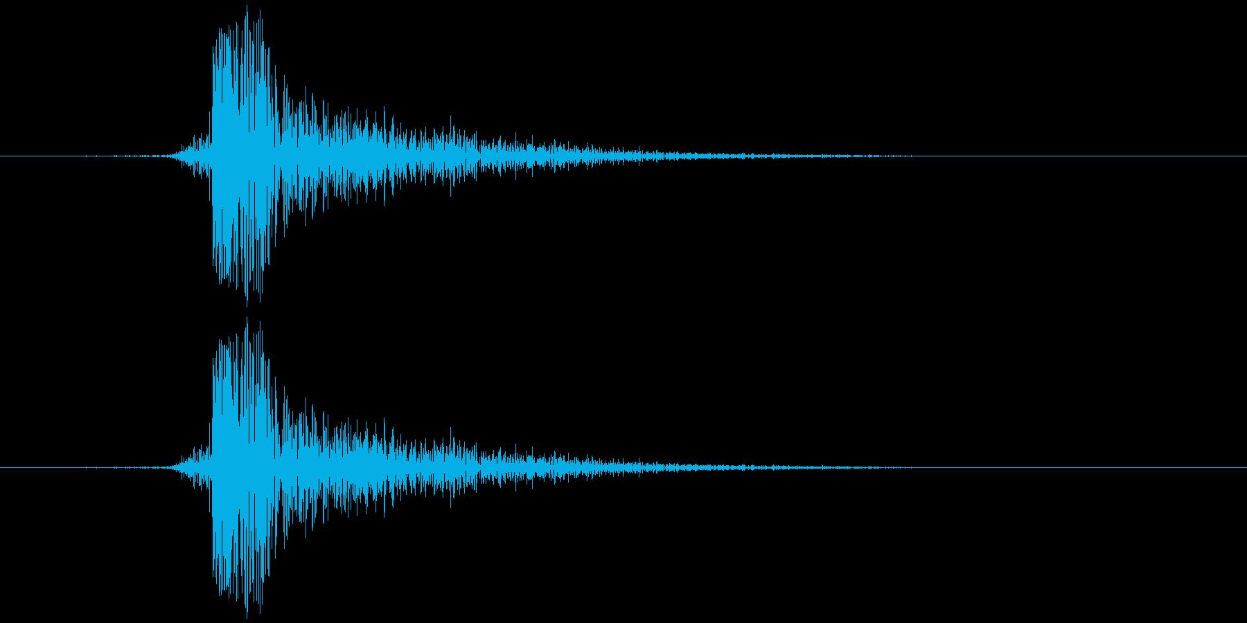 チン(金属)の再生済みの波形