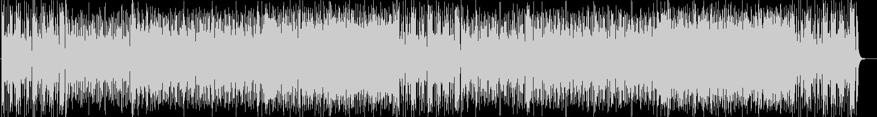華やかで疾走感のあるシンセサイザー曲の未再生の波形