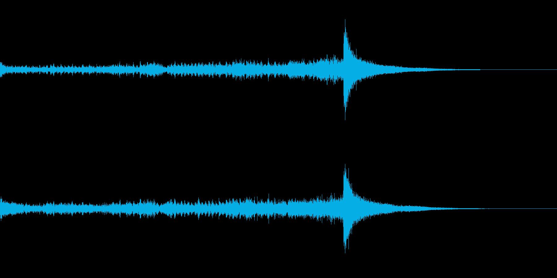 ティンパニーロール長+シンバル☆ドン2の再生済みの波形