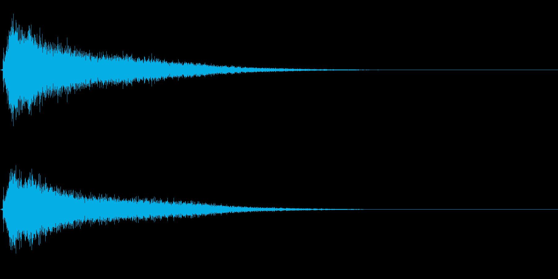 サスペンスに最適!ピアノの弦を弄ぶ音4の再生済みの波形