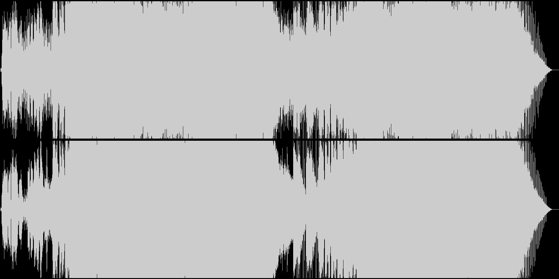 生演奏。6/8ビートのギターロックの未再生の波形