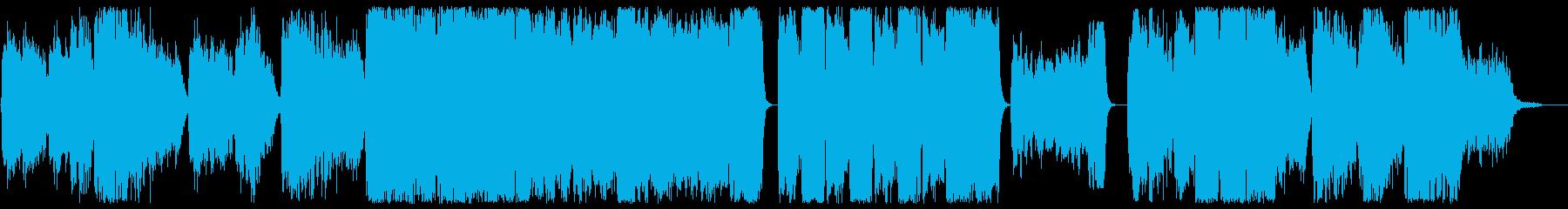 メローでメロディアスな合唱団風BGMの再生済みの波形