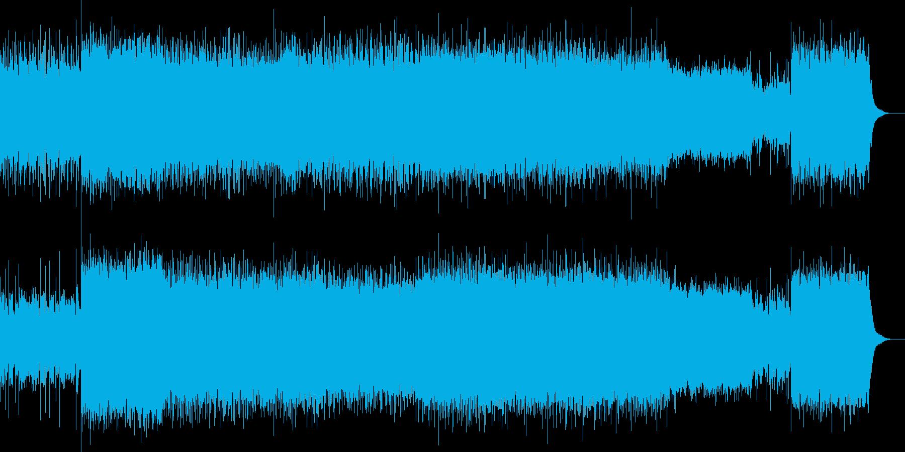 ポップなロックインスト曲の再生済みの波形