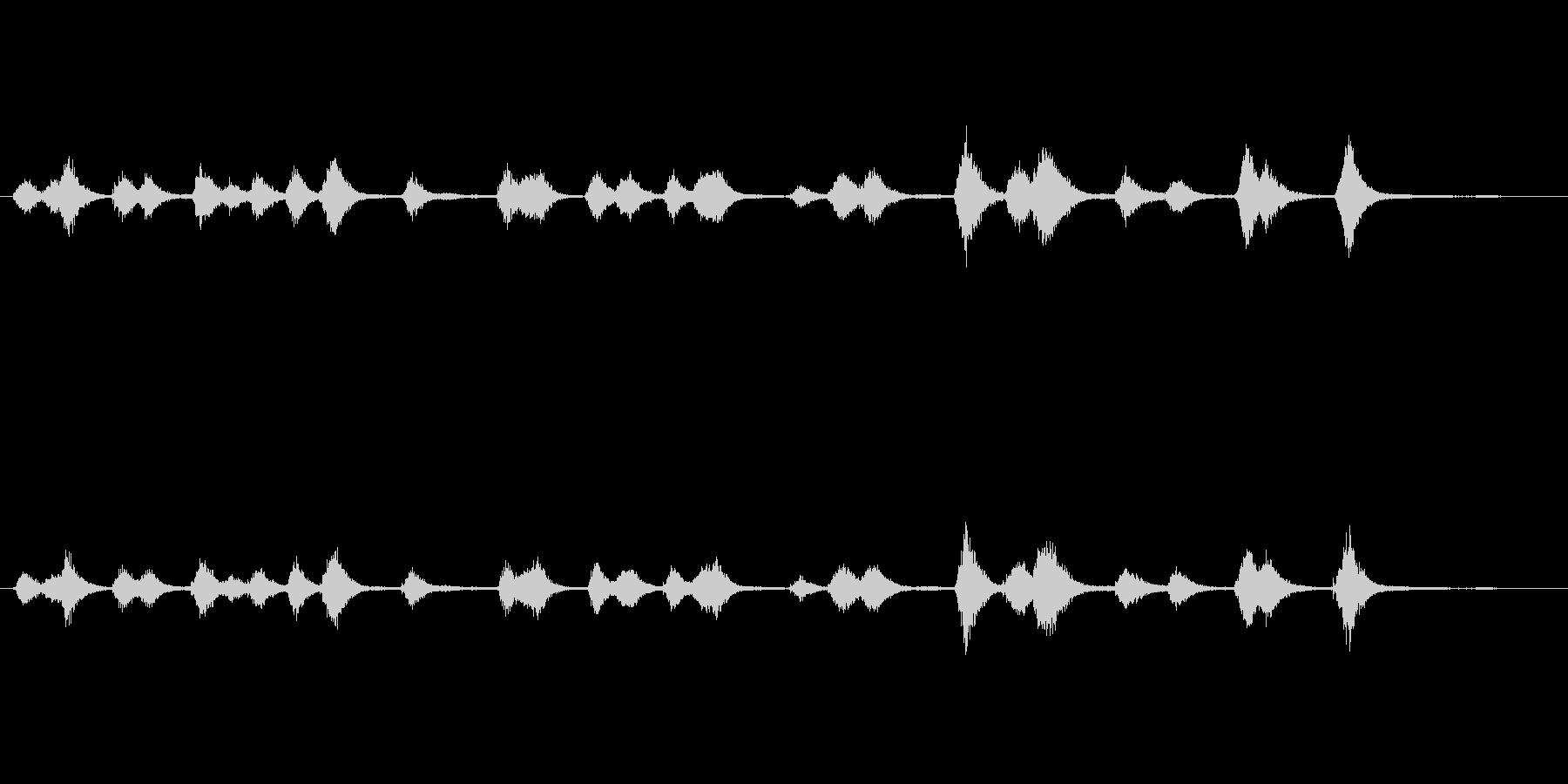 キラキラ星空ウィンドチャイム Starの未再生の波形