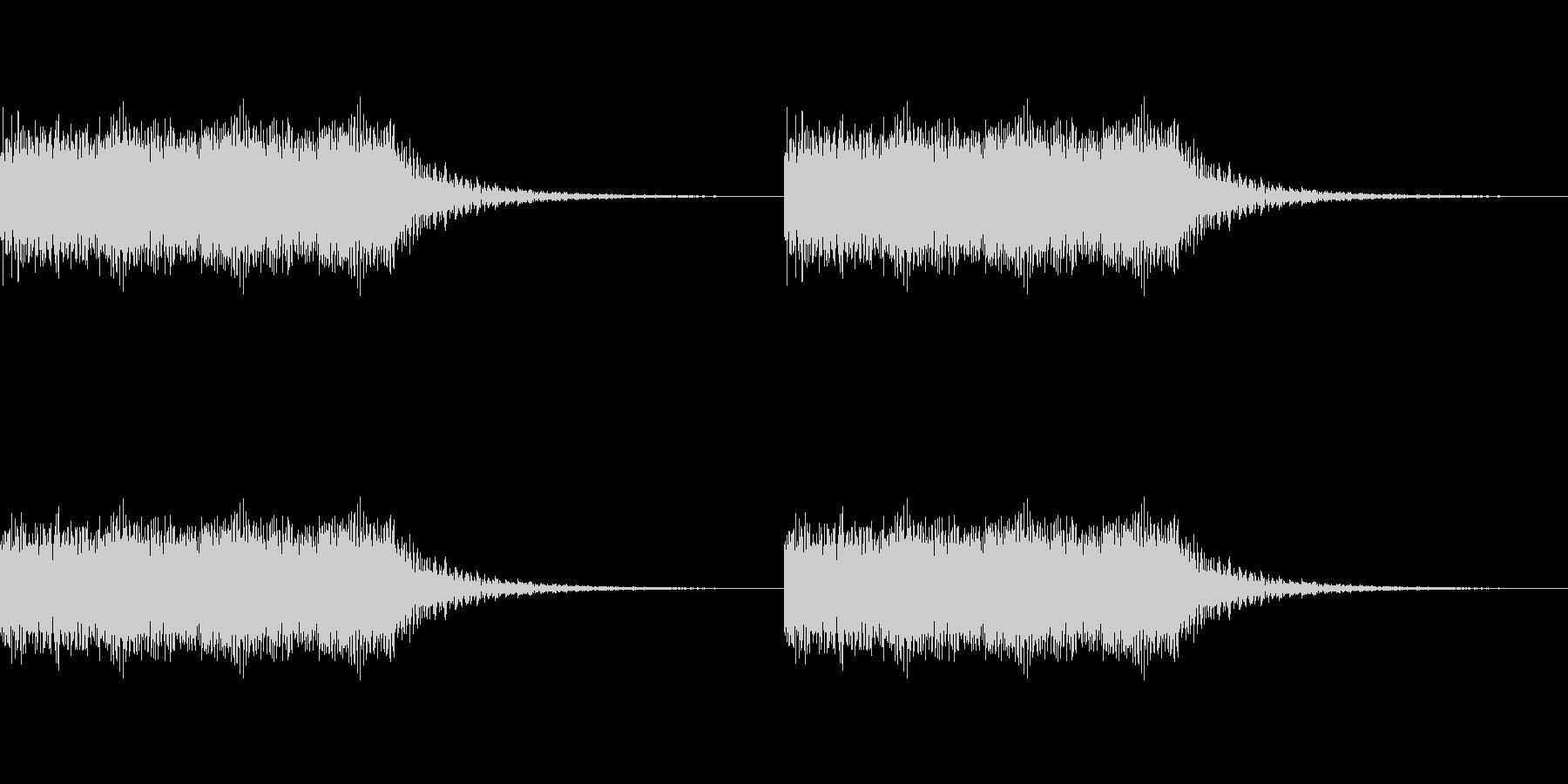 キュイーンキュイーンの未再生の波形