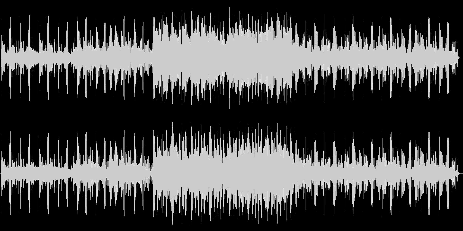 透明感のある近未来的なピアノ曲の未再生の波形