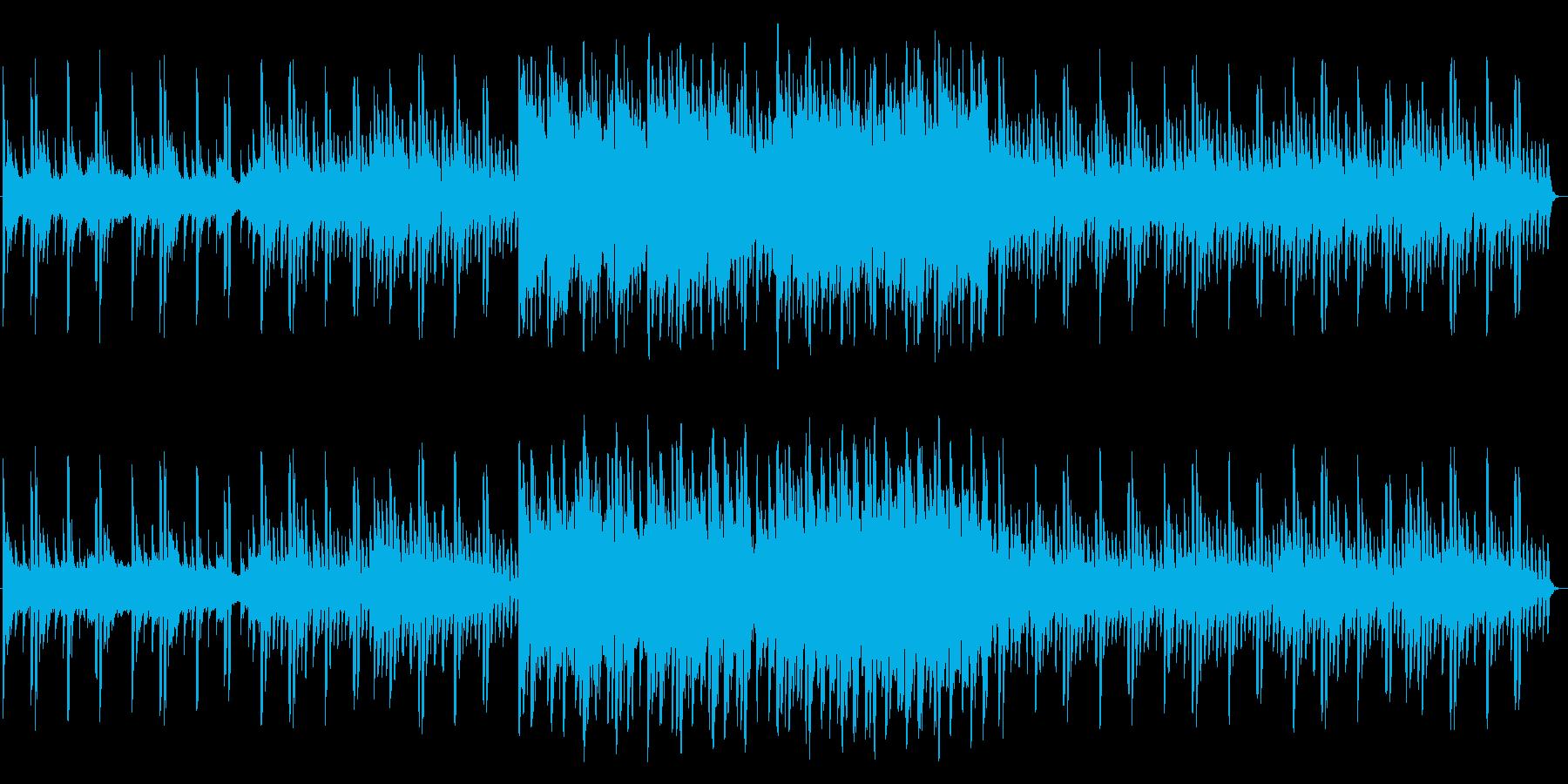 透明感のある近未来的なピアノ曲の再生済みの波形