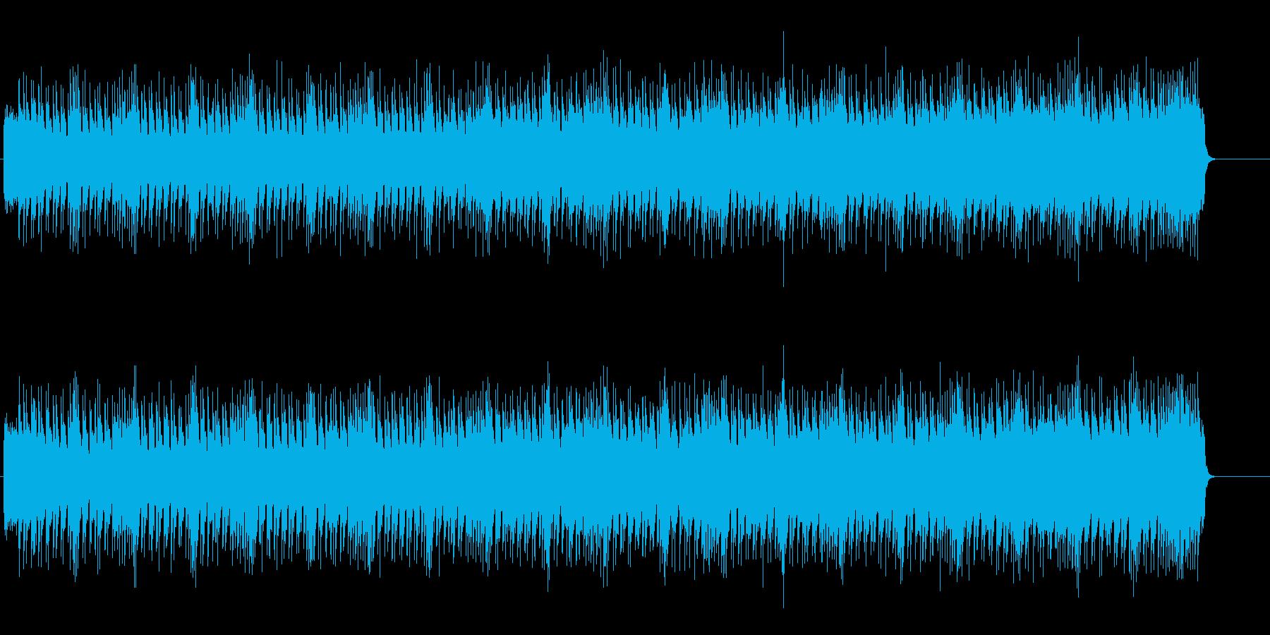 重たく暗いヘヴィーなギター・サウンドの再生済みの波形