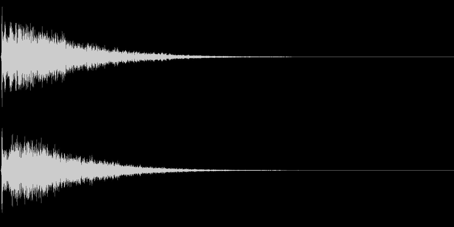 ゲームスタート、決定、ボタン音-126の未再生の波形