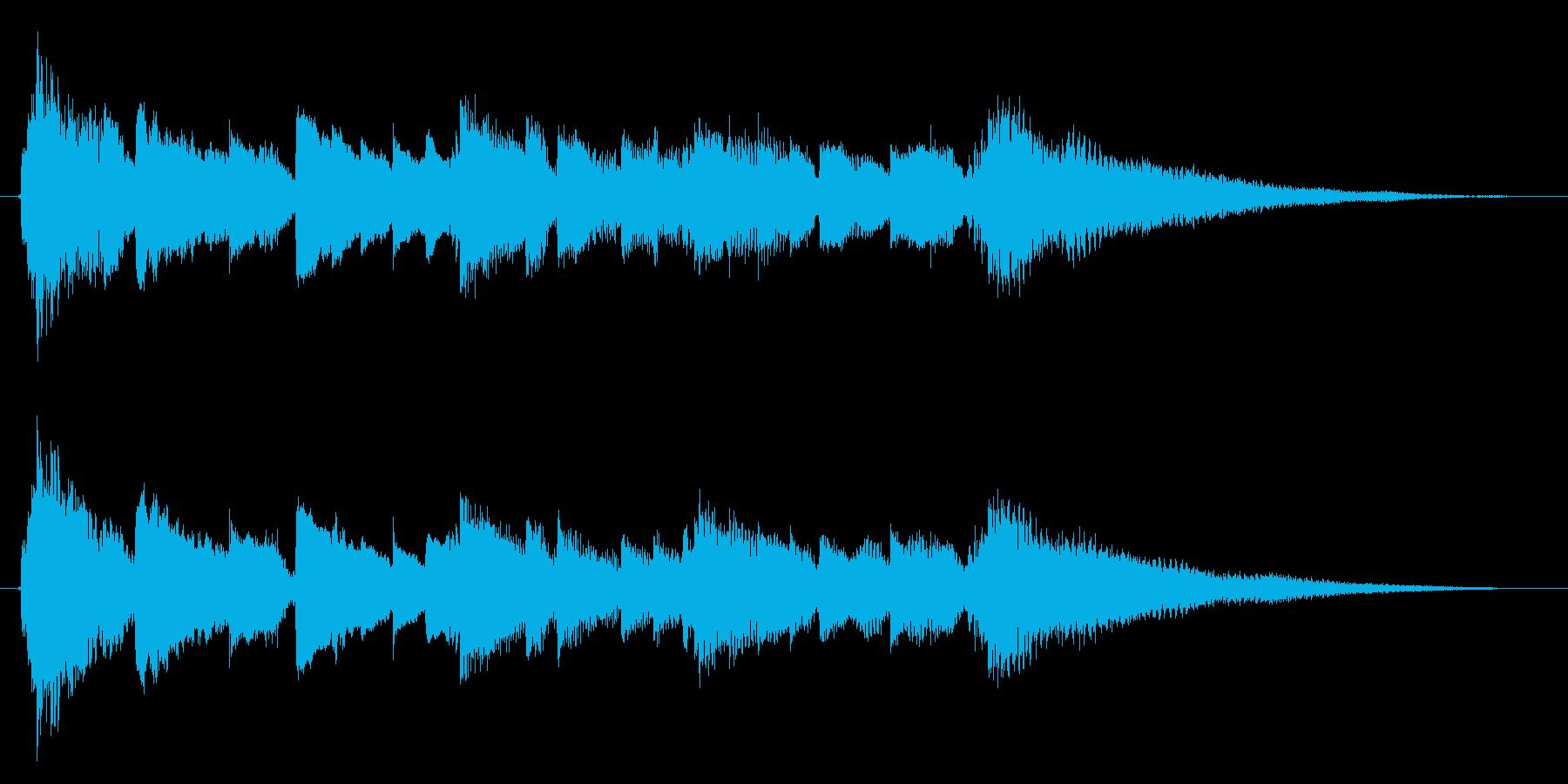 眠りと目覚めを連想させるサウンドロゴ1の再生済みの波形