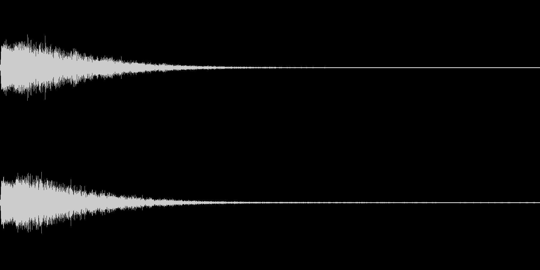 ポンッ (弾んだり、スマッシュ)の音の未再生の波形