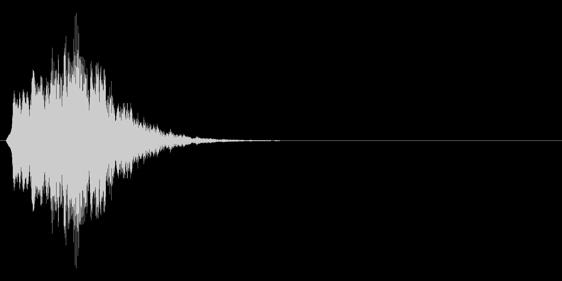 メッセージを通知する時の効果音の未再生の波形