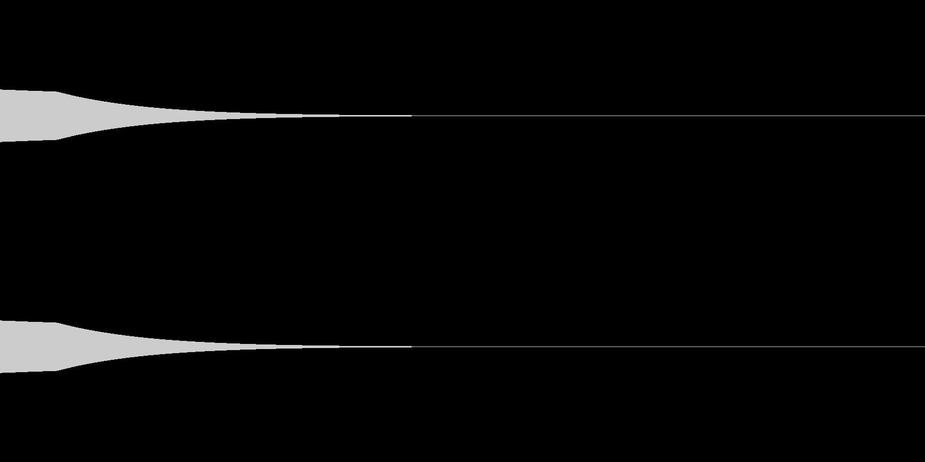 ピンポンピンポン(入店音)の未再生の波形