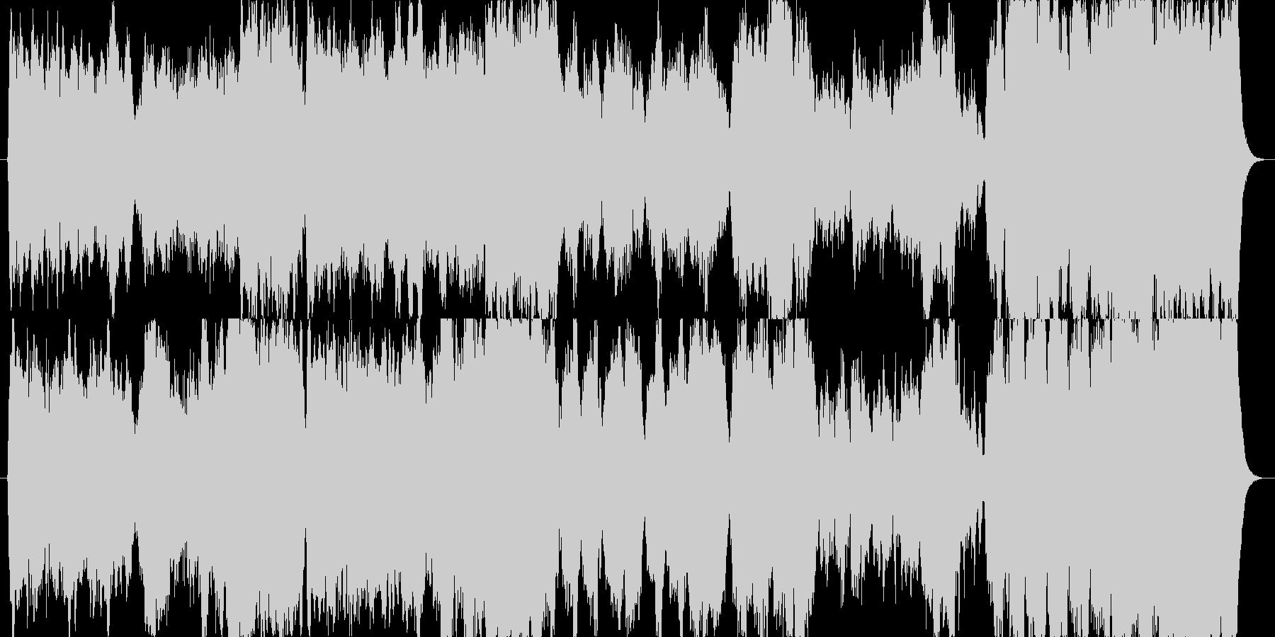 敵サイドなどを描写する時のオーケストラ曲の未再生の波形