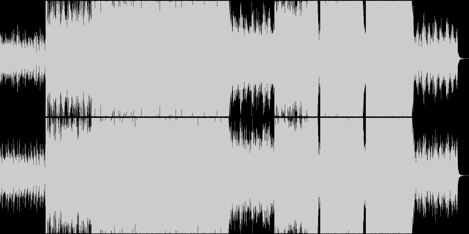 近未来のゲームや映画をイメージした曲の未再生の波形