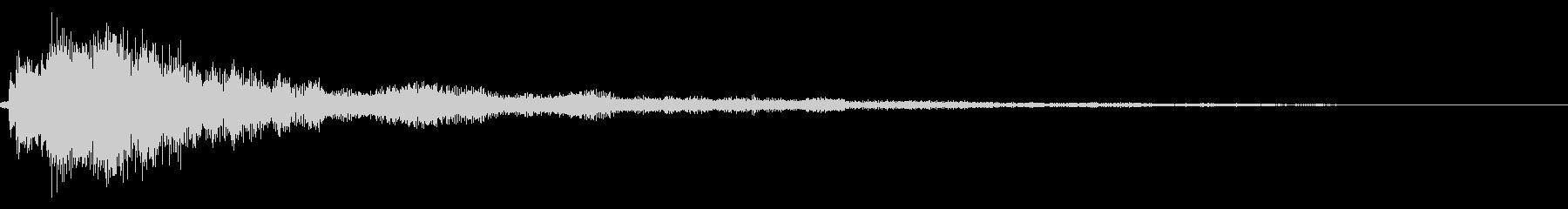 シンプルな決定/ボタン/クリック音 34の未再生の波形