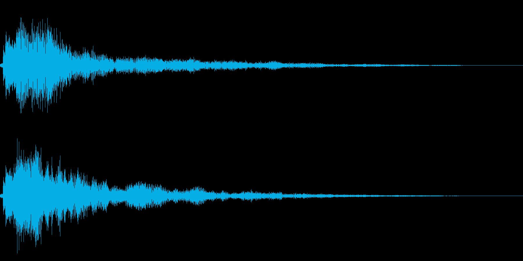 シンプルな決定/ボタン/クリック音 34の再生済みの波形