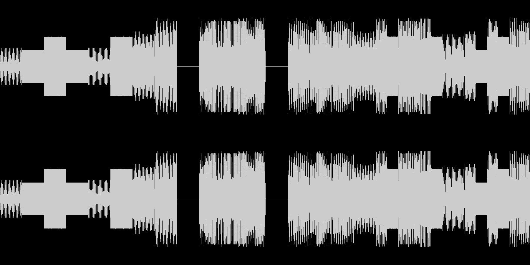 ゲームやラジオの合間に挟まるキャッチの未再生の波形