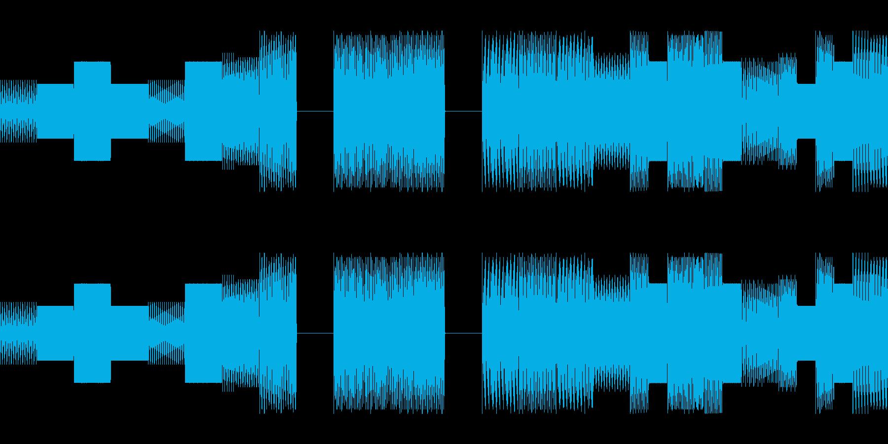ゲームやラジオの合間に挟まるキャッチの再生済みの波形