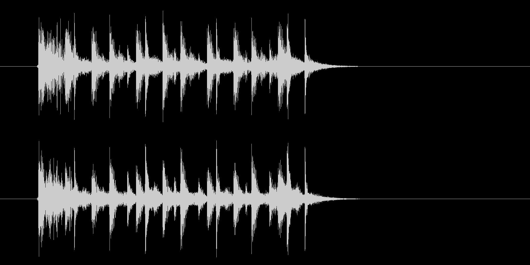 おしゃれでドキドキ感のあるシンセサウンドの未再生の波形