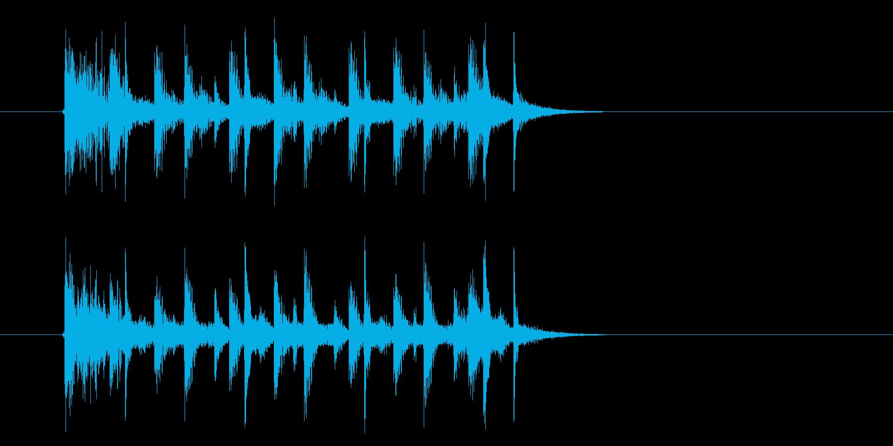 おしゃれでドキドキ感のあるシンセサウンドの再生済みの波形