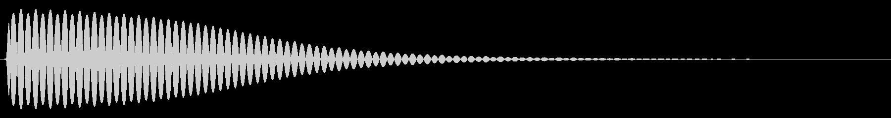 Com ファミコンなどのコマンド音 3の未再生の波形