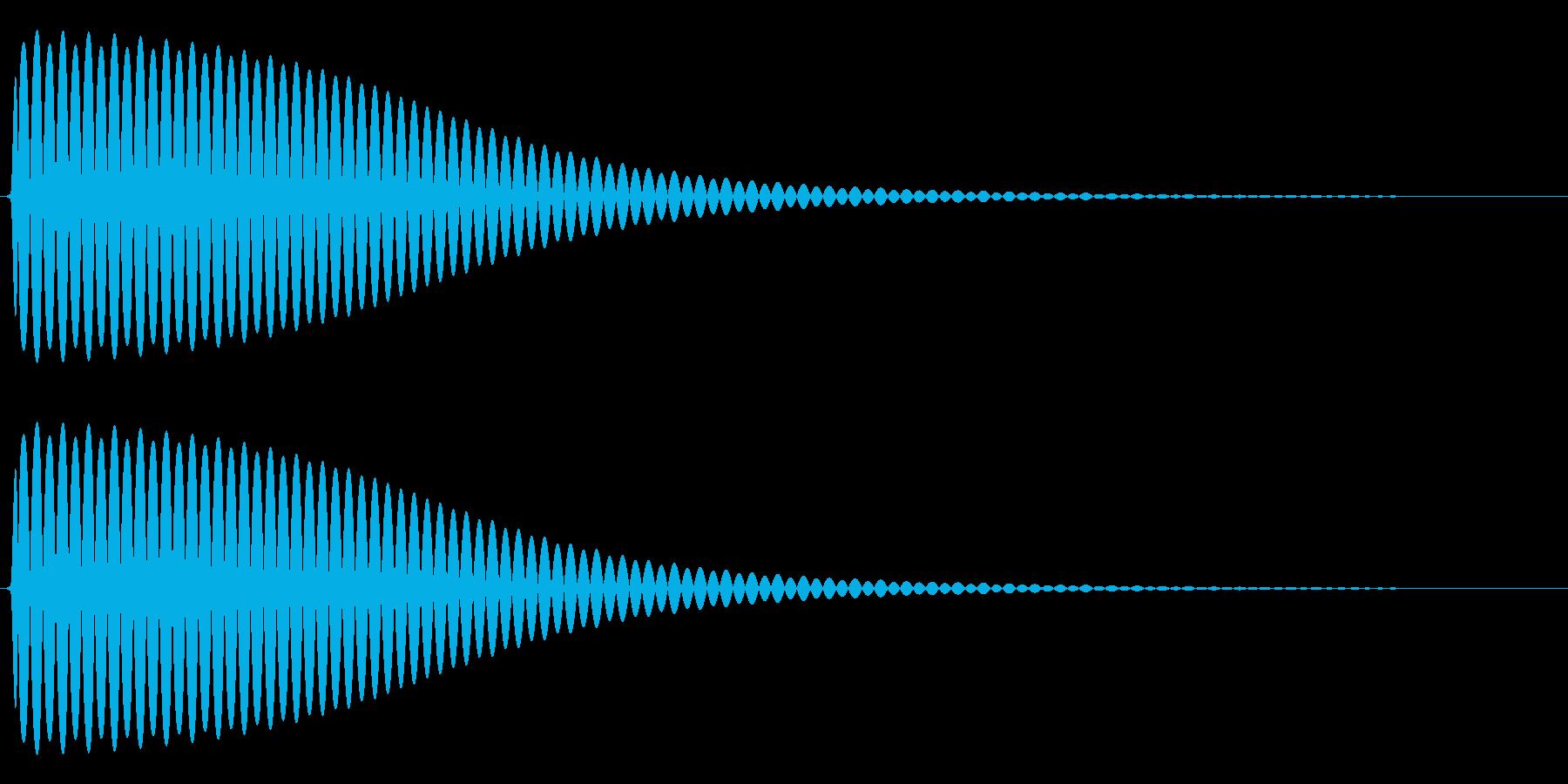 Com ファミコンなどのコマンド音 3の再生済みの波形