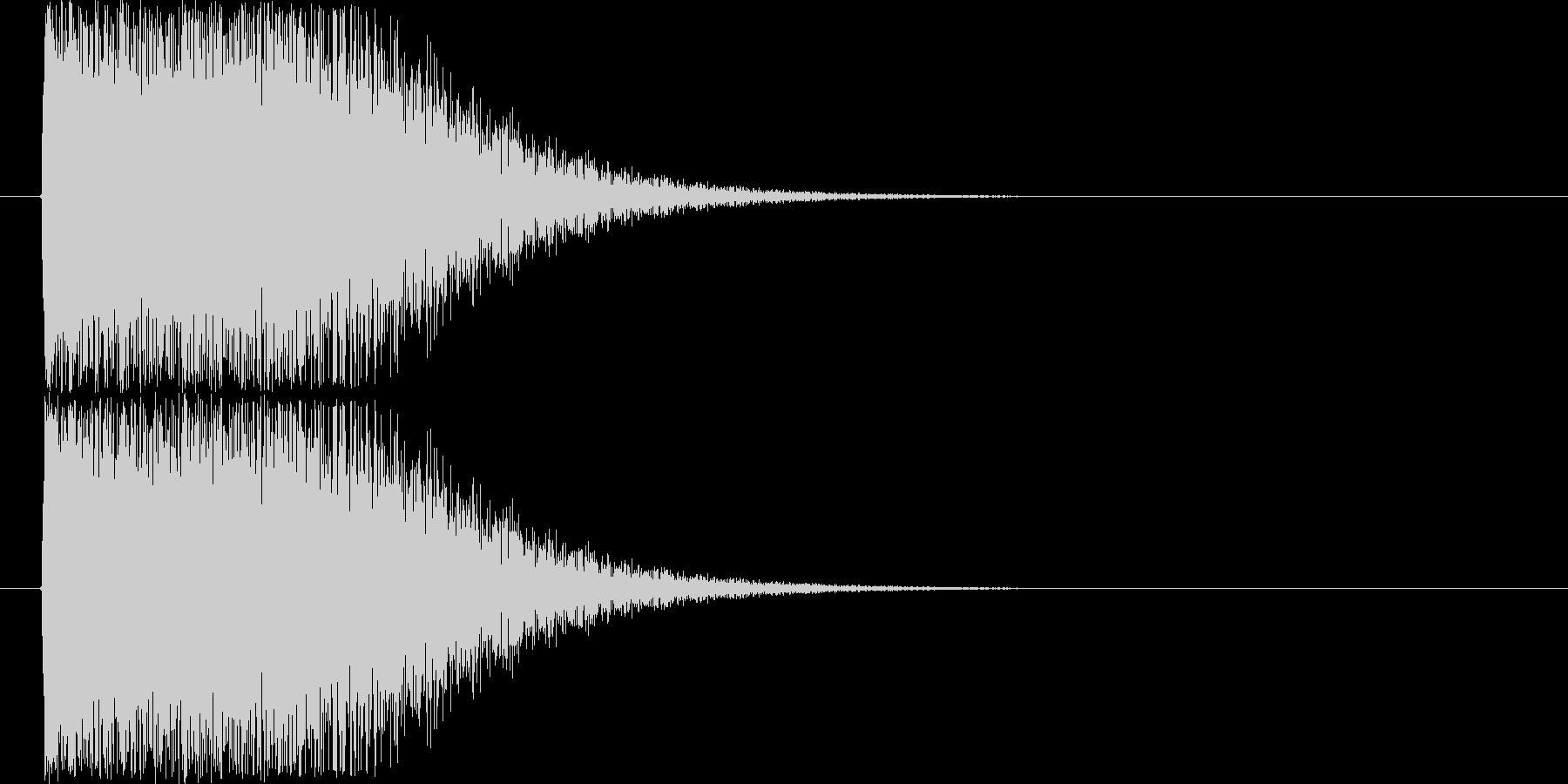 軽快なショック音の未再生の波形
