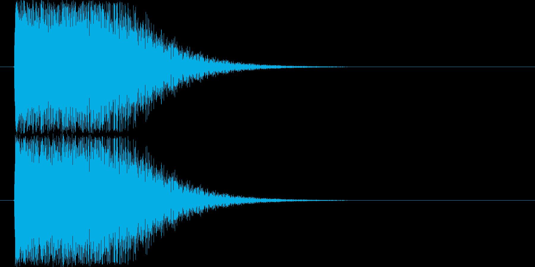 軽快なショック音の再生済みの波形