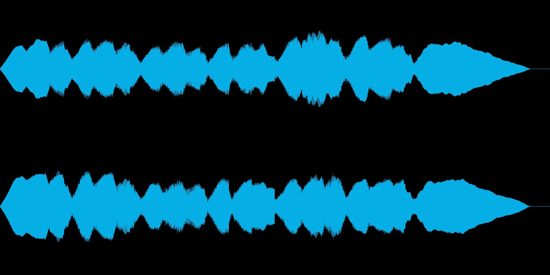 ゲームのようなバラードBGMの再生済みの波形
