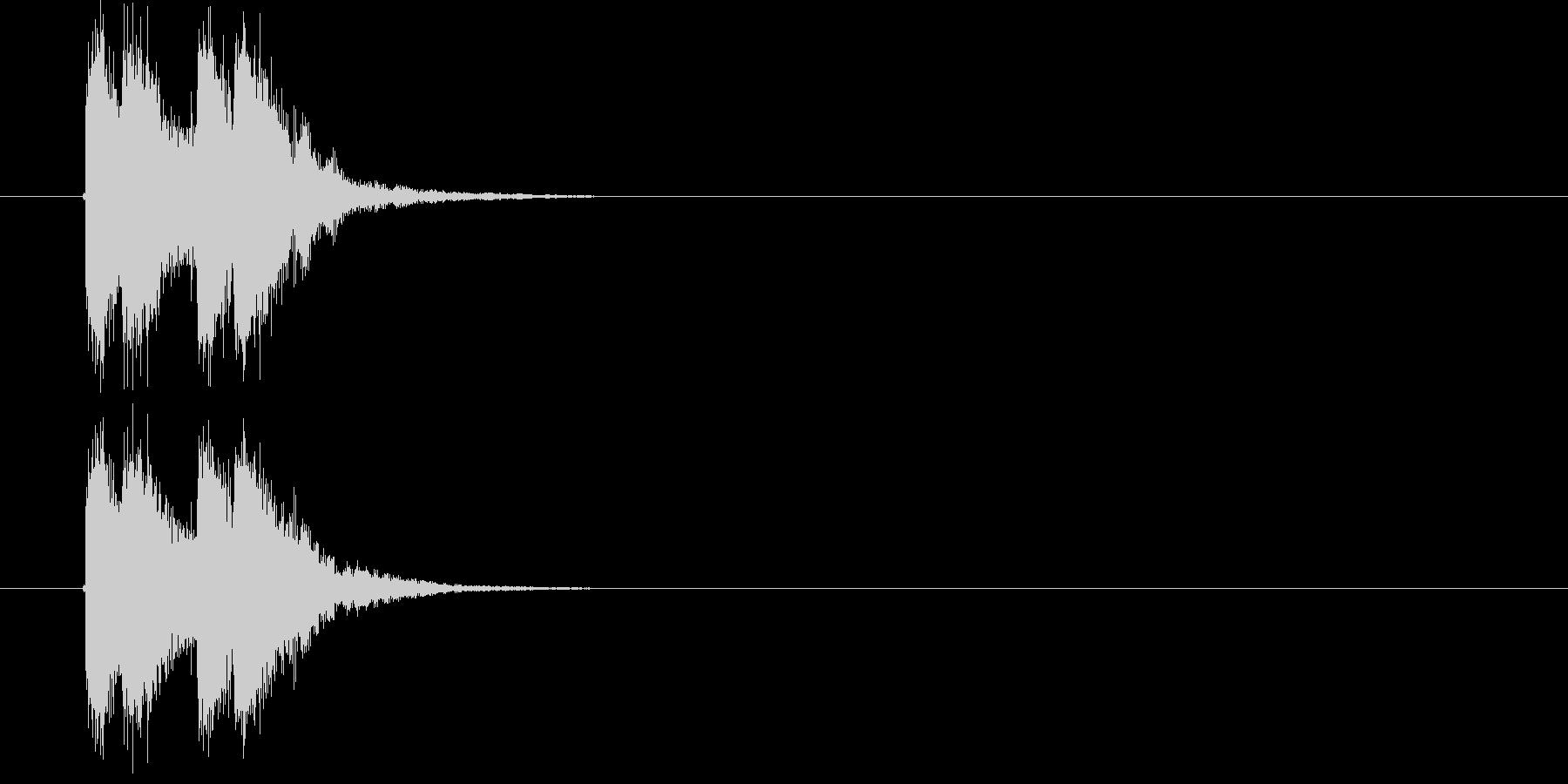 激しいサウンドのサウンドロゴ、ジングルの未再生の波形