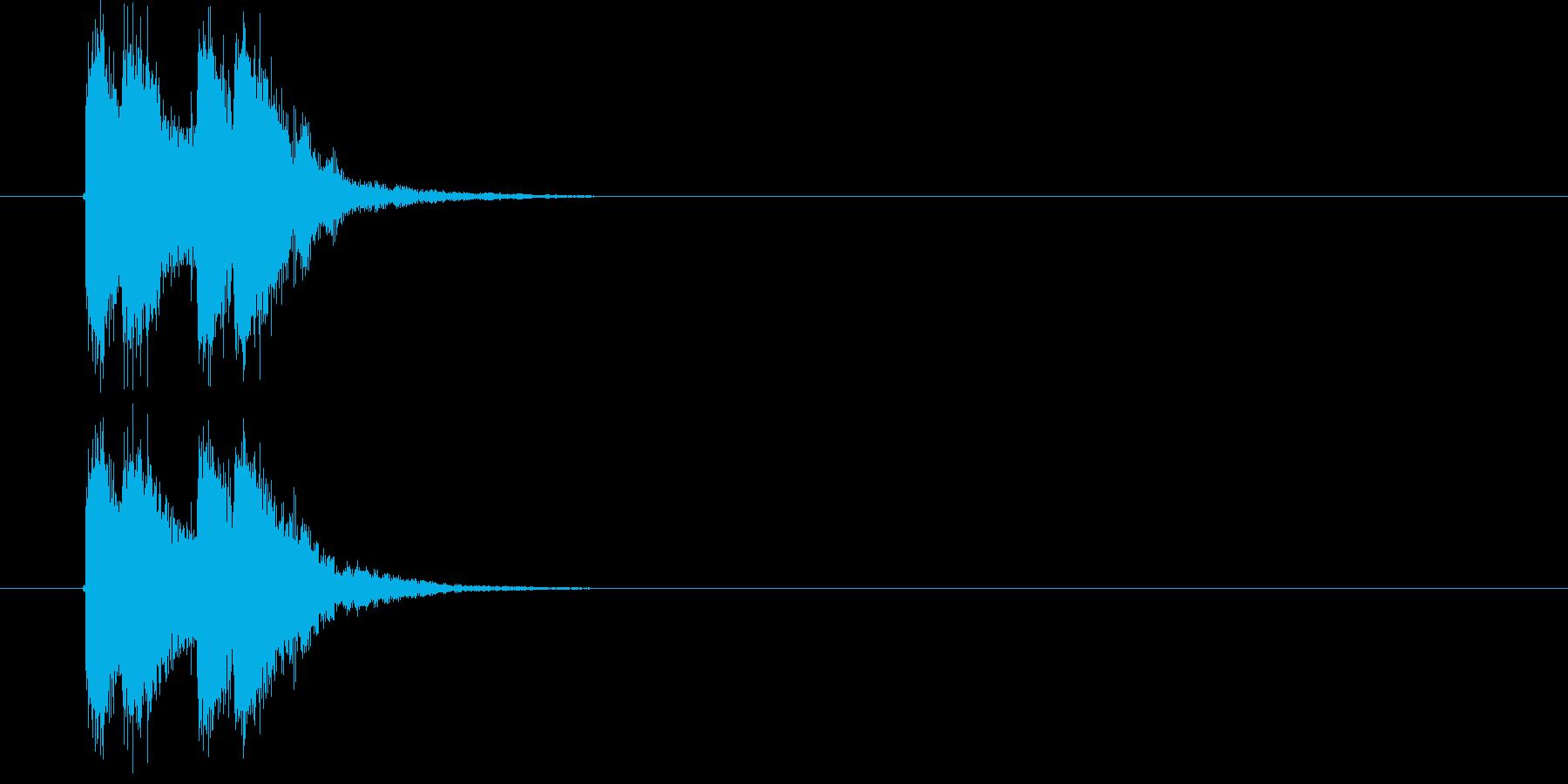 激しいサウンドのサウンドロゴ、ジングルの再生済みの波形