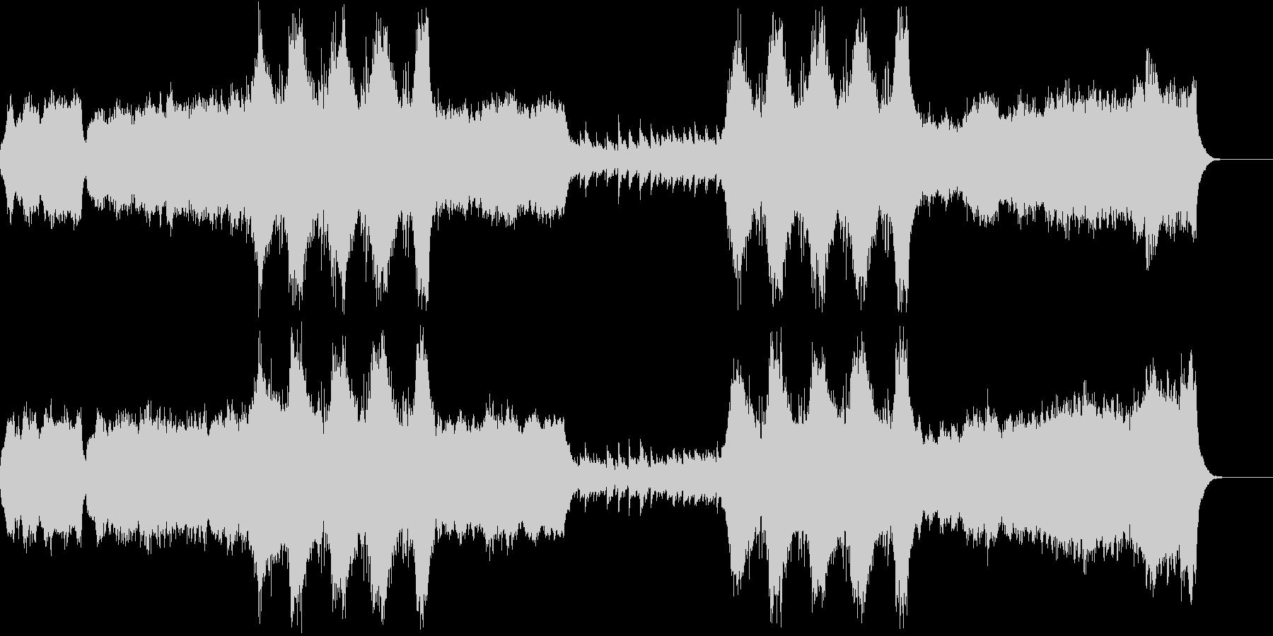 シリアスな、暗い雰囲気の教会音楽の未再生の波形