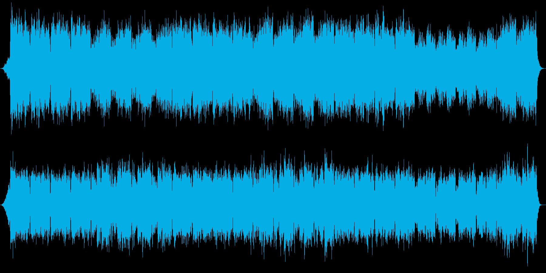 レクイエム的なヒーリング音楽の再生済みの波形