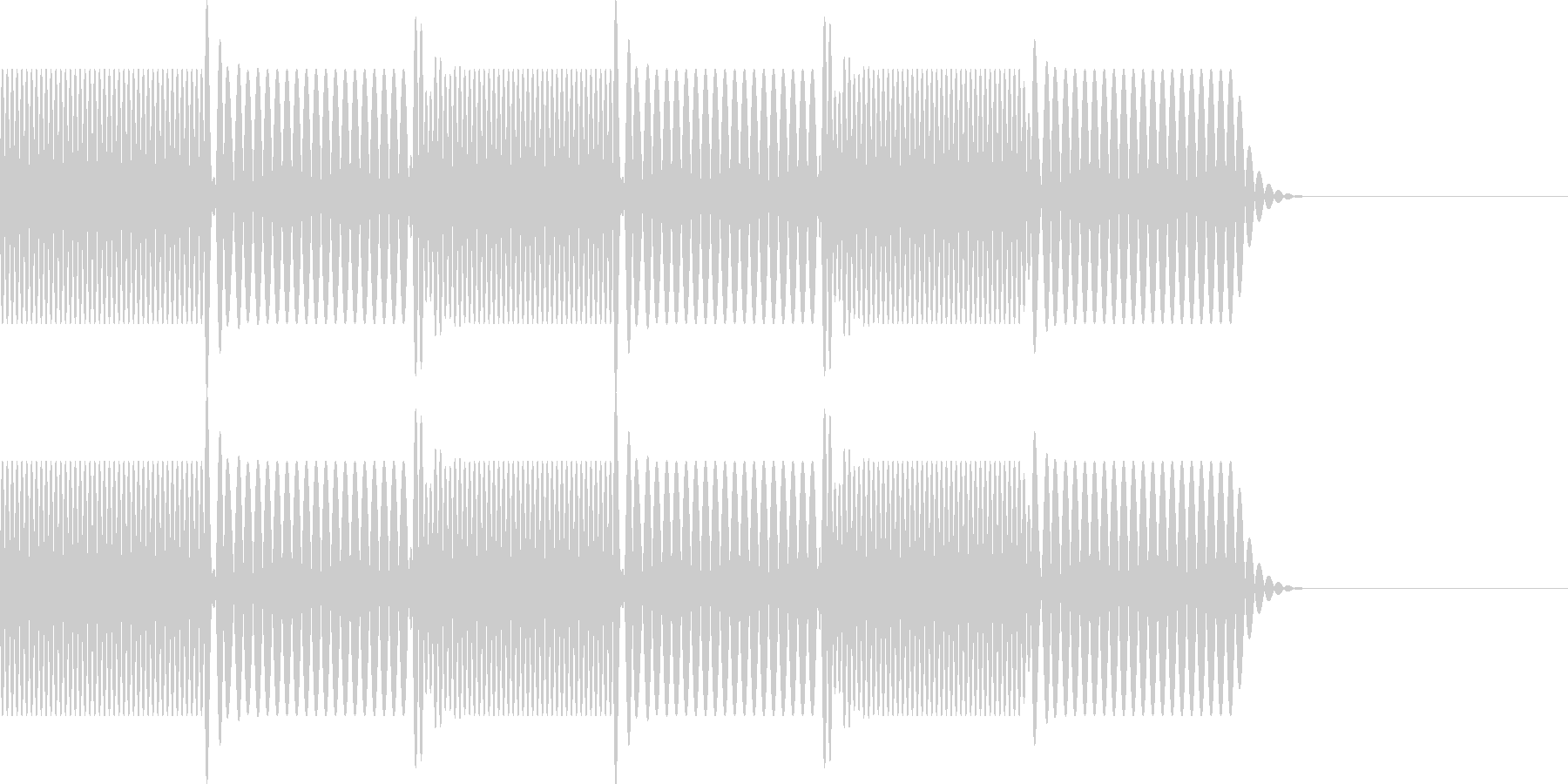 ボタン・操作音4(エラー)の未再生の波形