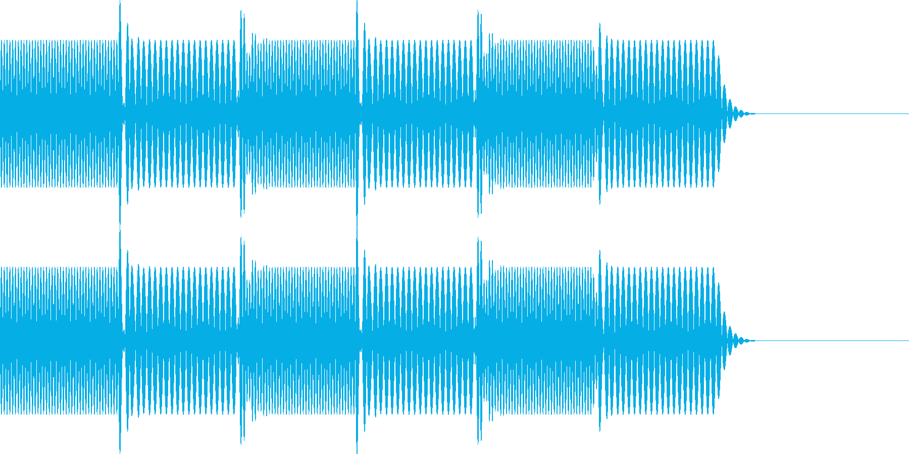 ボタン・操作音4(エラー)の再生済みの波形
