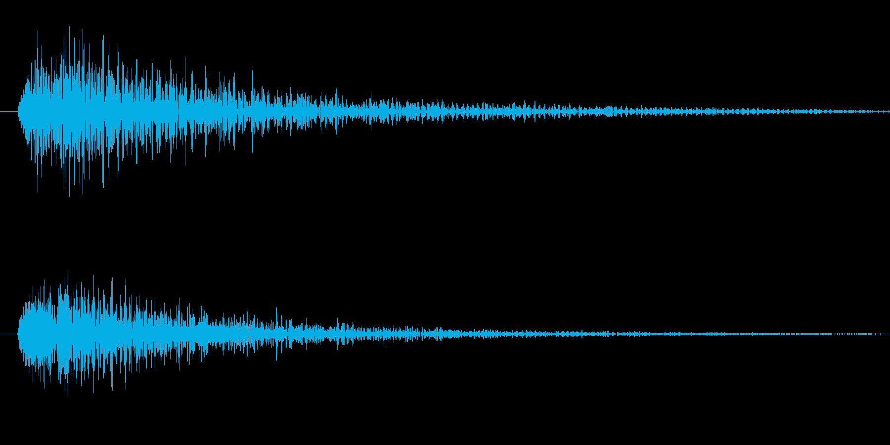 ブン(ライトセーバー効果音)の再生済みの波形