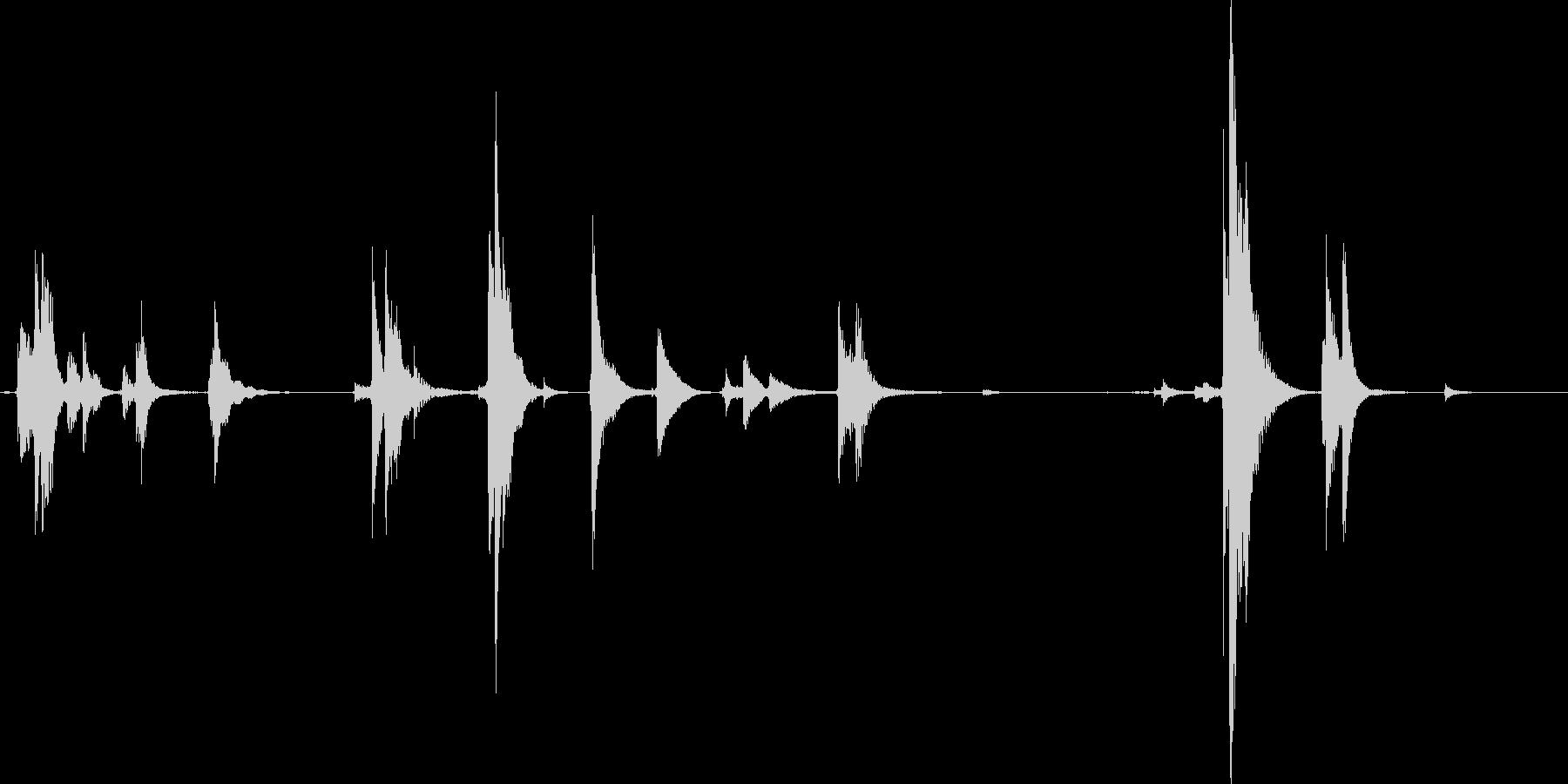 玄関のチリ~ンという音の未再生の波形