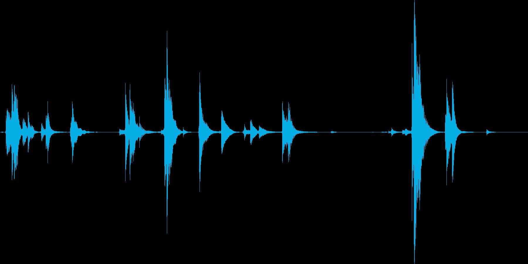 玄関のチリ~ンという音の再生済みの波形