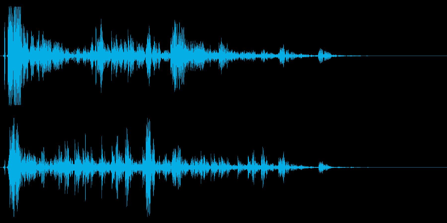 ドンパァ〜!本当にリアルな花火の効果音!の再生済みの波形