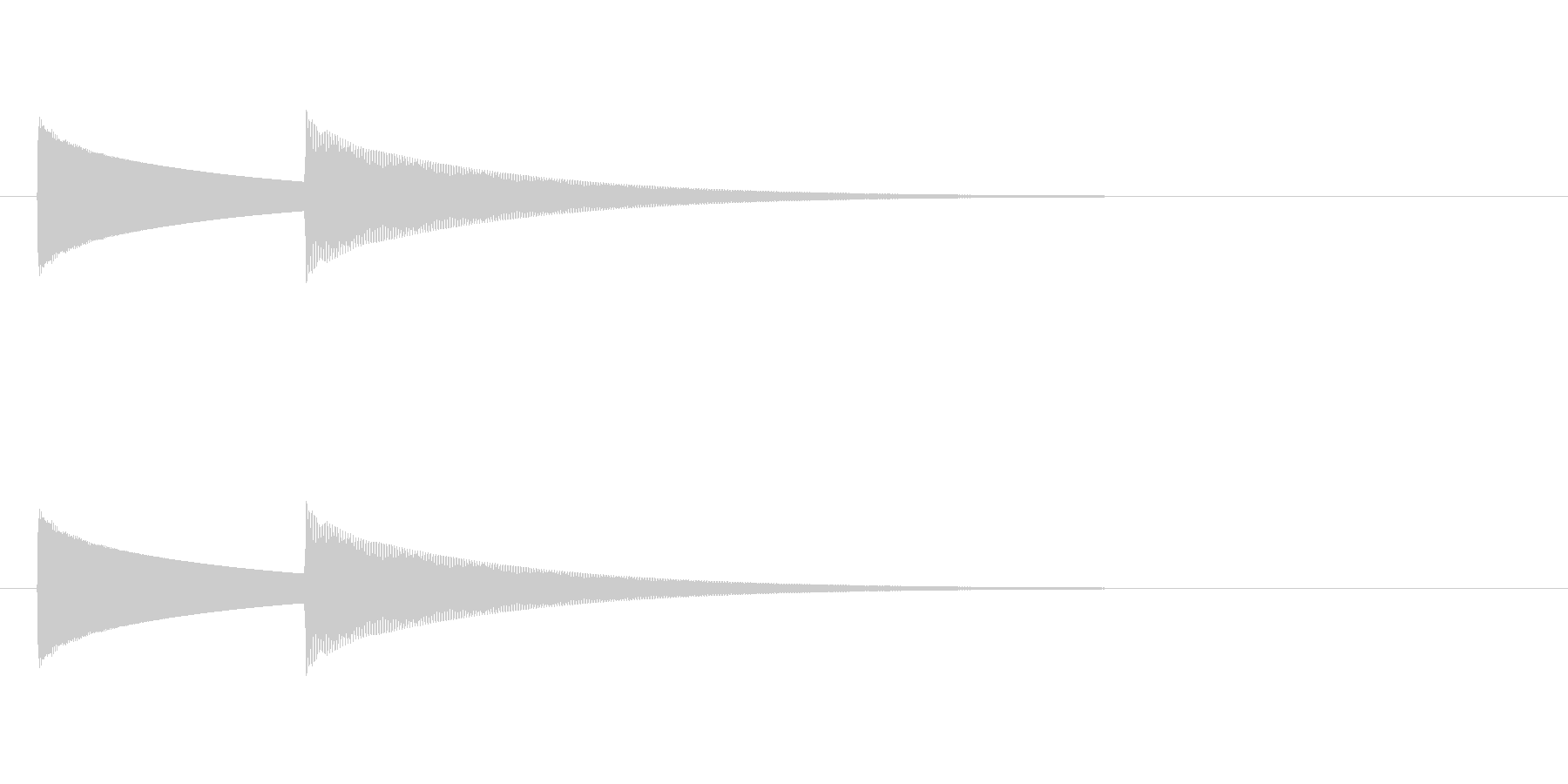 【ドアベル ピンポン02-2】の未再生の波形