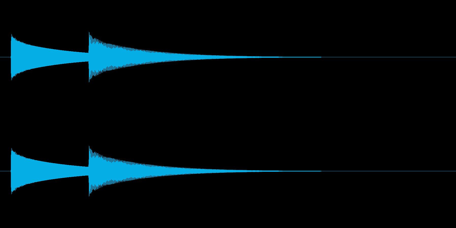 【ドアベル ピンポン02-2】の再生済みの波形