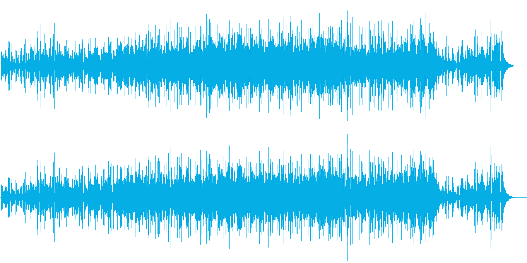 しっとりとした温かいストリングスの再生済みの波形