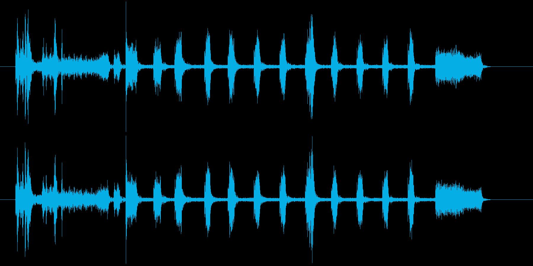 【生録音】家庭用プリンター01ショートの再生済みの波形