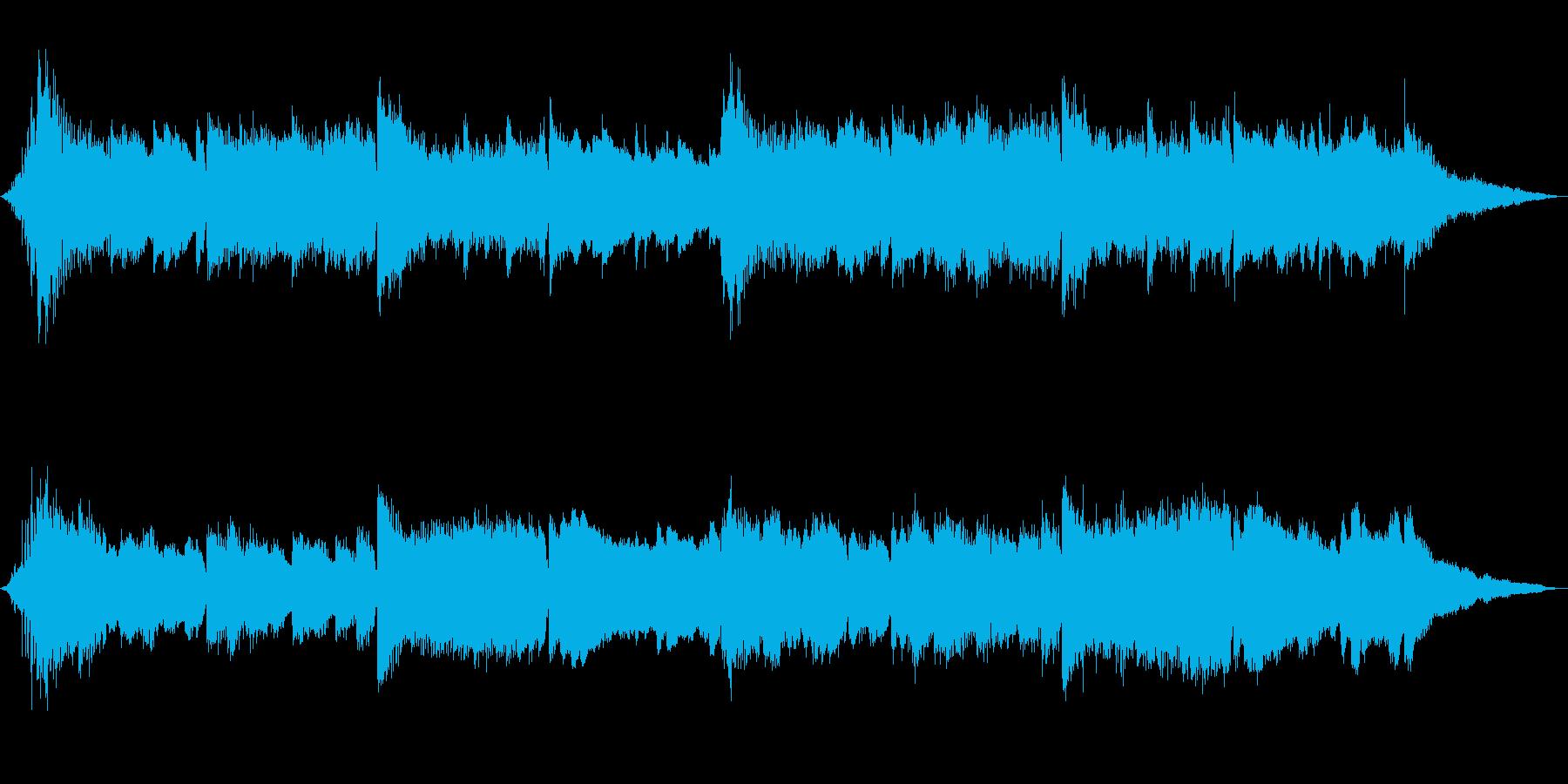 ピアノアルペジオとストリングスCMの再生済みの波形